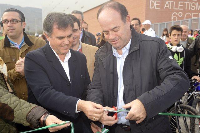 Francisco España Y Manuel Barón, En La Inauguración Del Carril