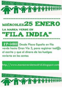Cartel De La Marea Verde Convocando A Una Manifestación