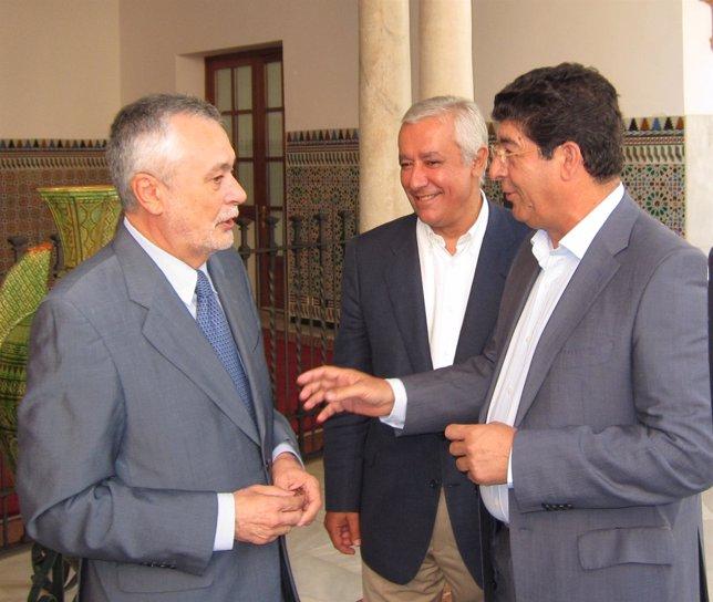 José Antonio Griñán, Javier Arenas Y Diego Valderas