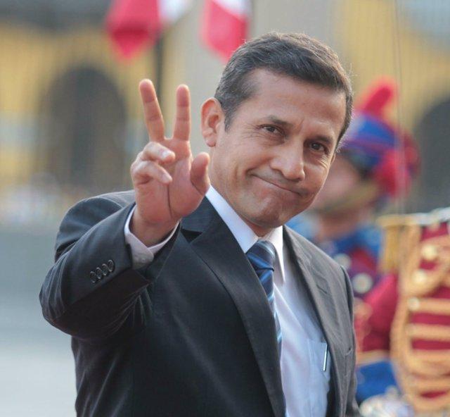 El Presidente De Perú, Ollanta Humala.