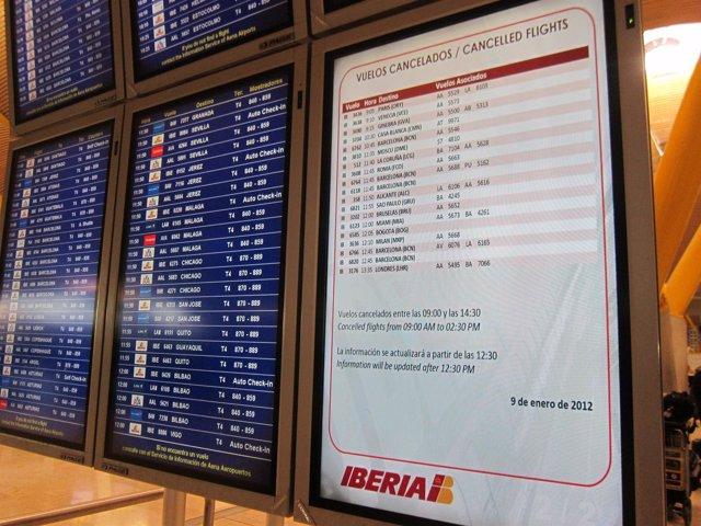 Paneles Huelga Iberia 9 De Enero