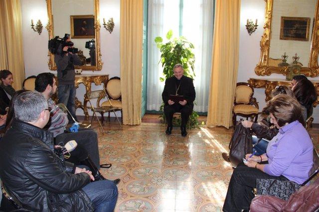 El Obispo De Cartagena Celebra Con Los Periodistas La Fiesta De Su Patrono