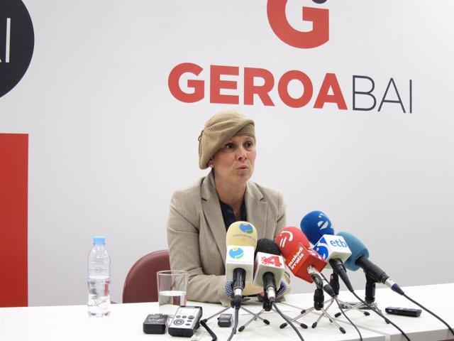 Uxue Barkos, Diputada De Geroa Bai.