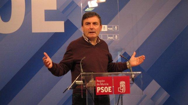 El Secretario General Del PSRM-PSOE, Pedro Saura