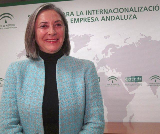 La Directora General De Extenda, Teresa Sáez, Hoy En Sevilla.