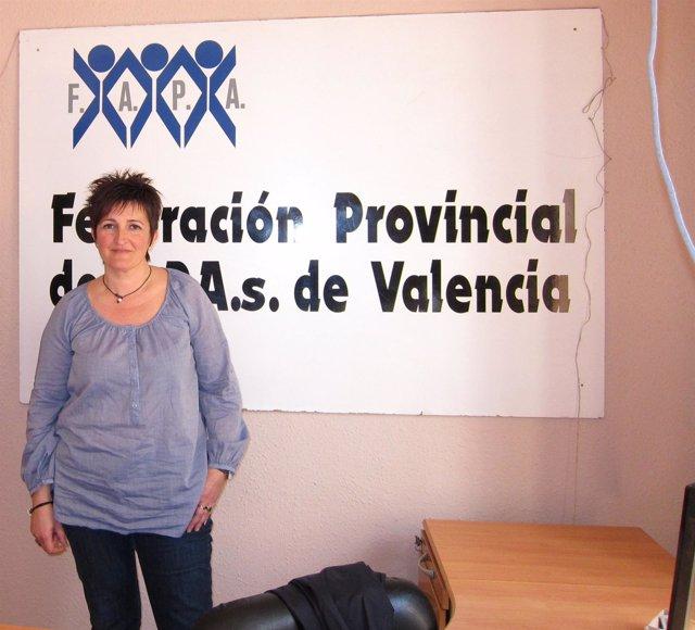 La presidenta de FAPA-Valencia, María José Navarro, en imagen de archivo