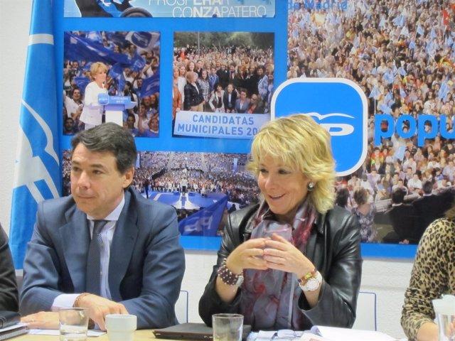 Ignacio González Y Esperanza Aguirre En El Comité Ejecutivo Del PP De Madrid