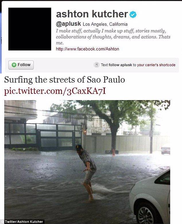 Ashton Kutcher En Brasil