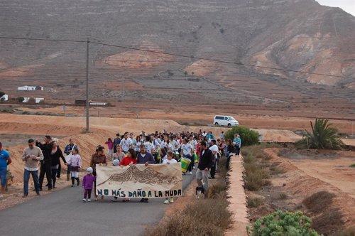 Protesta De Los Vecinos De La Muda (Fuerteventura)