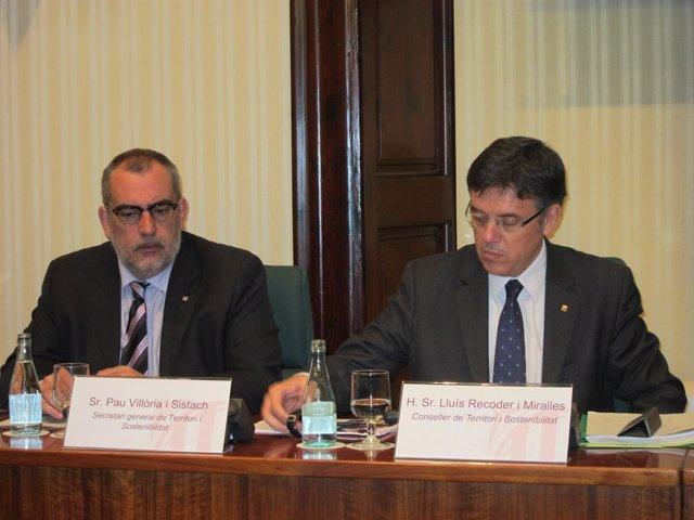 Lluís Recoder, En Una Comparecencia En El Parlament