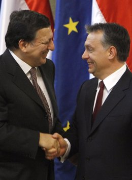 Barroso y Orban (Hungría)