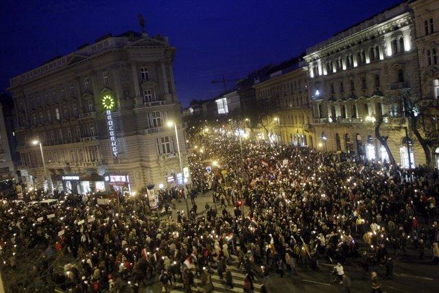 Manifestación En Hungría