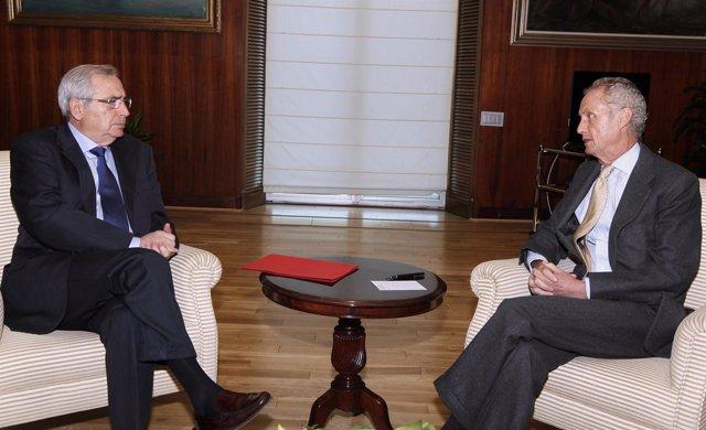 Morenés Se Reúne Con El Presidente De Melilla En El Ministerio De Defensa