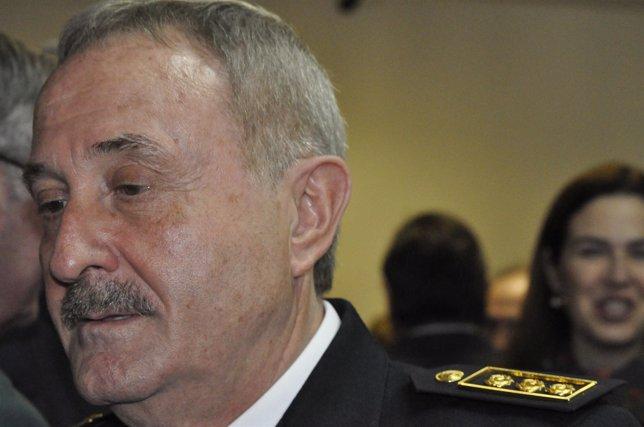 El Jefe Superior De Policía De Aragón, José Villar Del Salz.