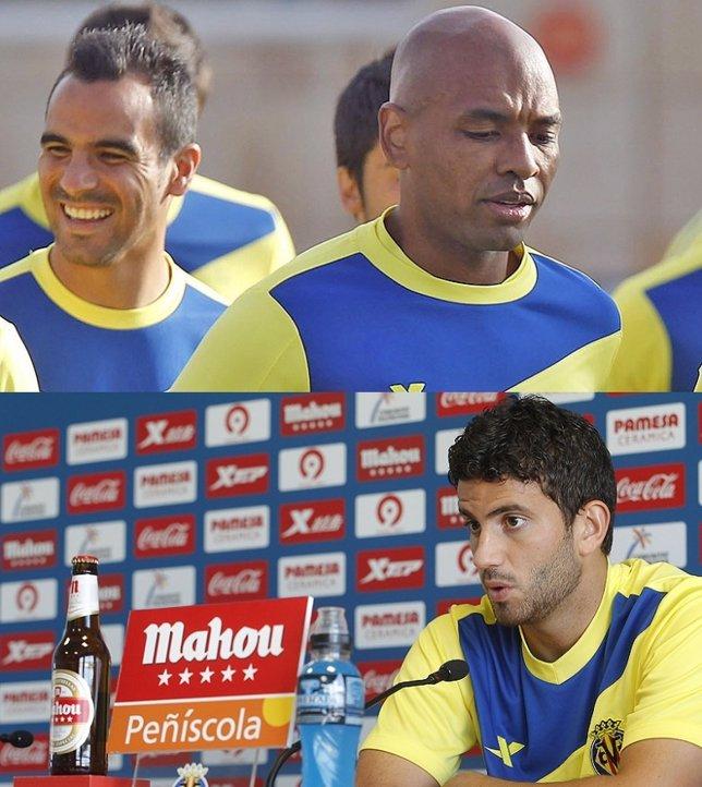 Los Jugadores Del Villarreal Marcos Senna Y Mateo Musacchio