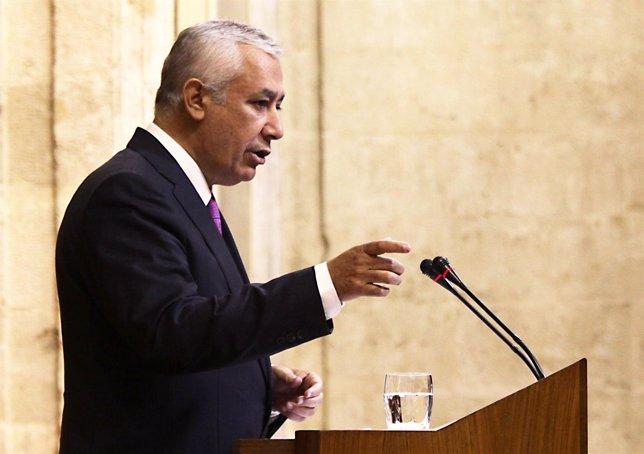 Javier Arenas, Hoy En El Pleno Del Parlamento