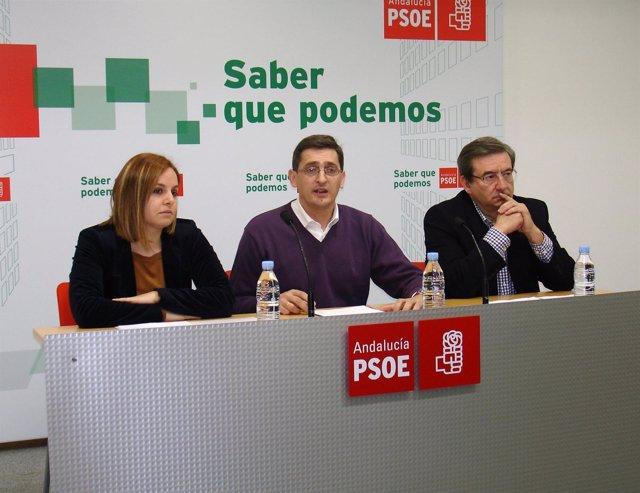 Nuñez, Sánchez Teruel Y Martínez En Rueda De Prensa