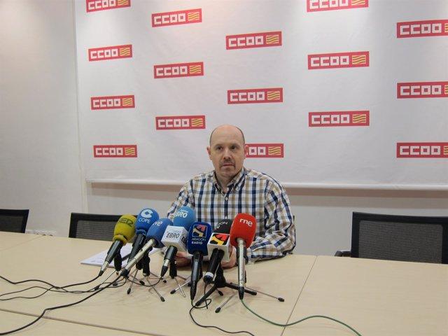 El Secretario De Acción Sindical De CC.OO. Aragón, Manuel Pina.