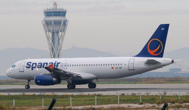 Avión de Spanair