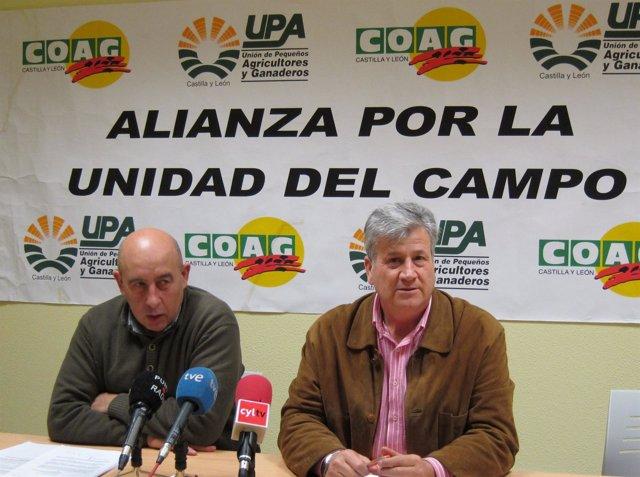 Los Dirigentes De UPA Y COAG, Julio López Y Aurelio Pérez
