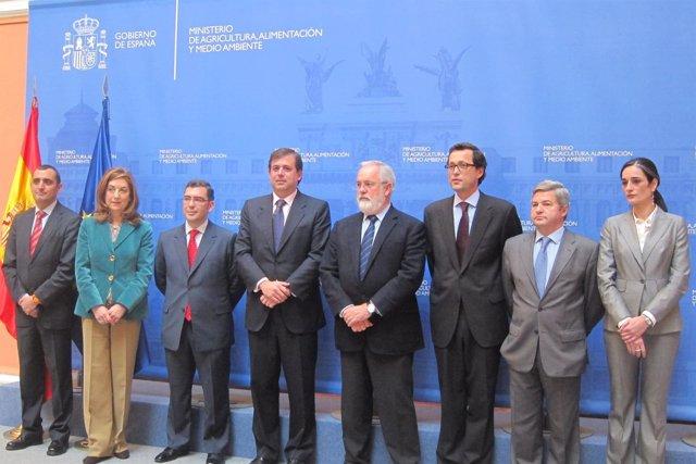 Arias Cañete Con Altos Cargos Del Ministerio