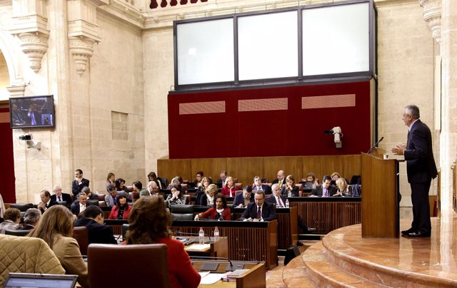 José Antonio Griñán, Hoy Ante El Pleno Del Parlamento