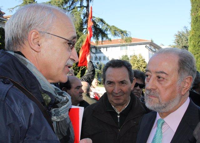 Francisco González (CCOO) Y Gabino De Lorenzo Se Reúnen Para Hablar De Pensiones