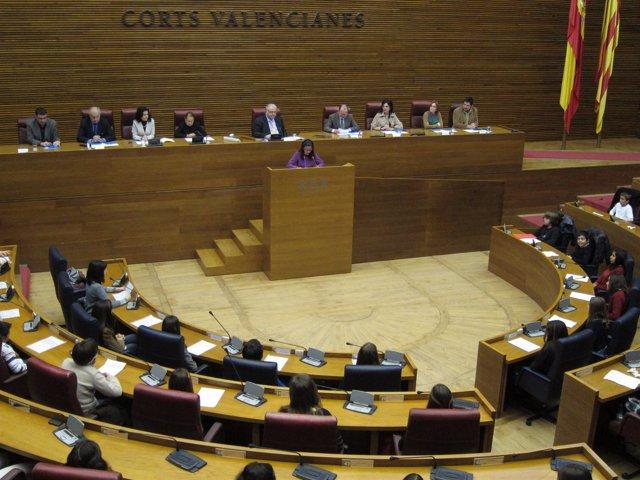 Niños Valencianos Participan En El XV Foro Infantil De Unicef En Las Corts.