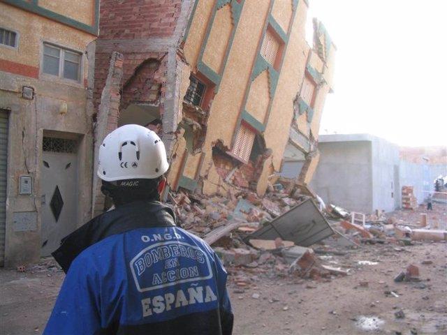 La ONG Bomberos En Acción En Un Terremoto En Marruecos