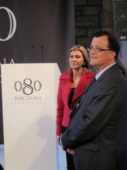 El Conseller  F. X. Mena, Y La Delegada Del Gobierno En Catalunya, Llanos De Lun