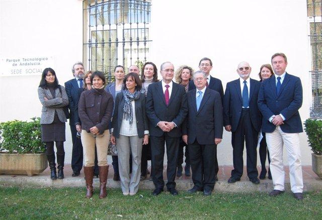 Martel, De La Torre Y Romera Con Representantes De Entidades Culturales