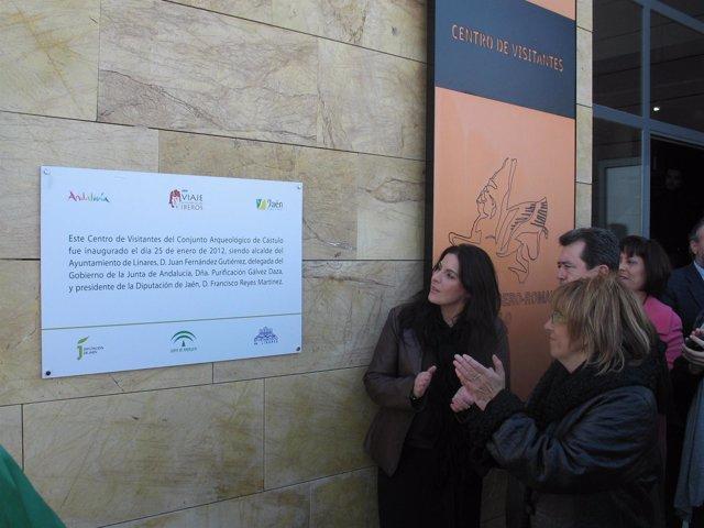 Férriz, Fernández Y Gálvez Inauguran El Centro De Visitantes De Cástulo.
