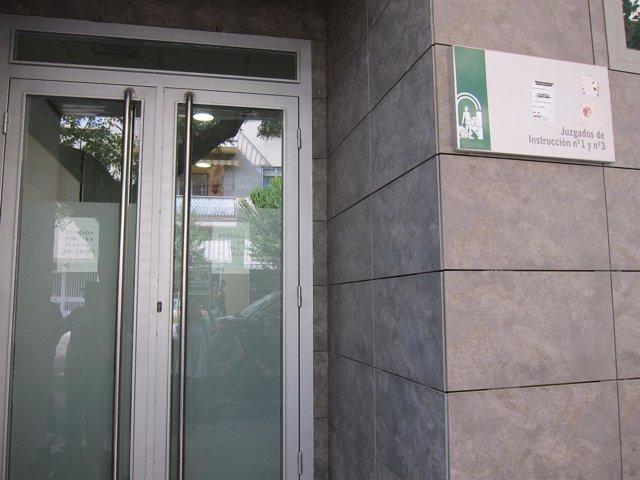 Puerta Del Juzgado De Instrucción Número 1 De Jaén