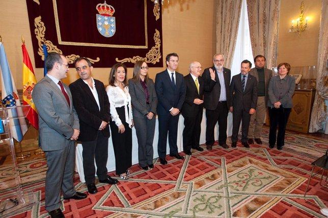 PAZO DE RAXOI 13,00 h.- O titular da Xunta de Galicia, Alberto Núñez Feijóo, pre