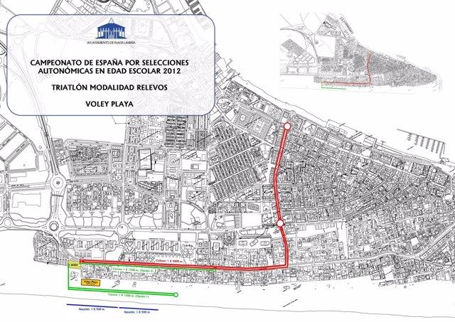 Circuito Del Campeonato De España De Triatlón Y Voley Playa En Edad Escolar.