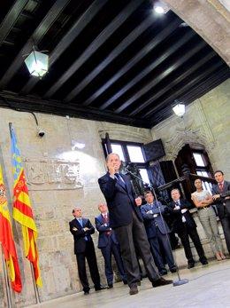 Francisco Camps en el Momento de La Renuncia a su cargo de president