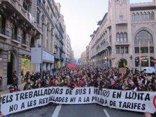 Manifestación De Trabajadores De TMB