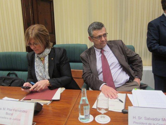 La Consellera P.Fdez.Bozal Y El Diputado S.Milà (ICV-Euia)