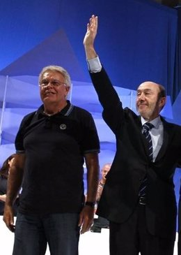 González Y Rubalcaba En Un Acto De Campaña De Las Elecciones Generales