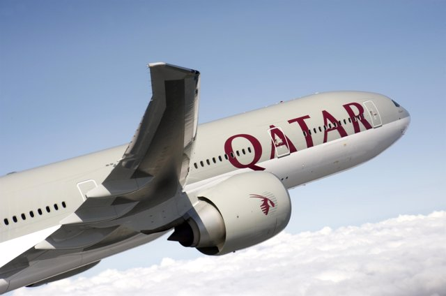 Avión de qatar airways