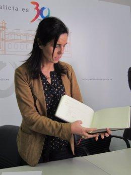 La Presidenta Del Parlamento, Pilar Rojo, En La Presentación Del Manual
