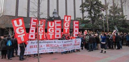Los sindicatos cifran en el 70% el seguimiento de las huelgas de la sanidad privada y la industria del metal