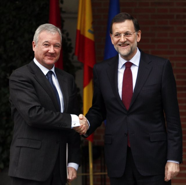 Mariano Rajoy Recibe A Ramon Luis Valcarcel