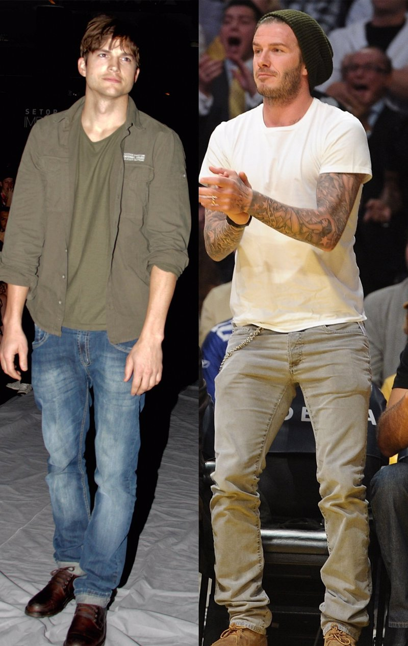 Beckham Está Y Casual Ashton Que Demuestran Estilo David El Kutcher pSMVqGUz