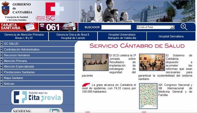 Web Servicio Cántabro De Salud