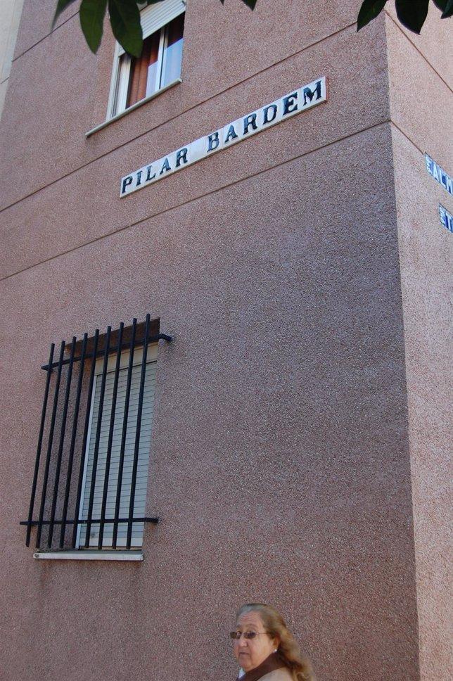 El Rótulo De La Calle Pilar Bardem.