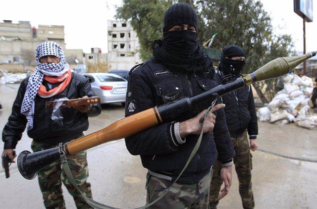 Soldado Sirio, Jornada De Violencia En Siria