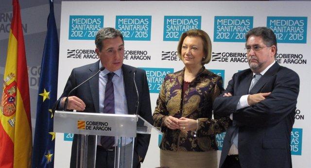 Ricardo Oliván, Luisa Fernanda Rudi Y Tomás Tenza