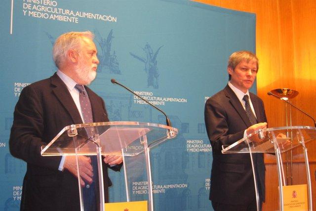 Dacian Ciolos Con Miguel Arias Cañete