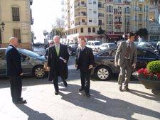 Rodrigo Rato, Acompañado Por El Presidente De Ceuta